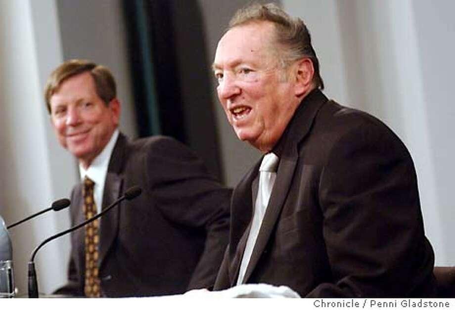 Norv Turner , new heard coach of Raiders. shown with Al Davis. 1/26/04 in Oakland.  PENNI GLADSTONE / The Chronicle Photo: PENNI GLADSTONE