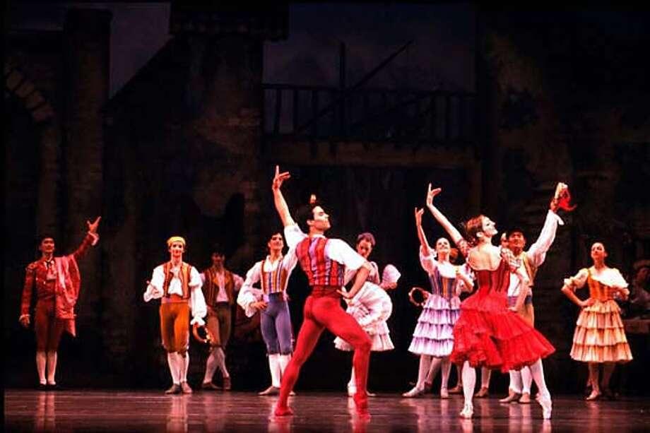 / for: Sunday Datebook slug: sfballet25;  Lorena Feijoo and Joan Boada in Tomasson/Possokhov's Don Quixote Andrea Flores, SF Ballet / HO Photo: Andrea Flores,