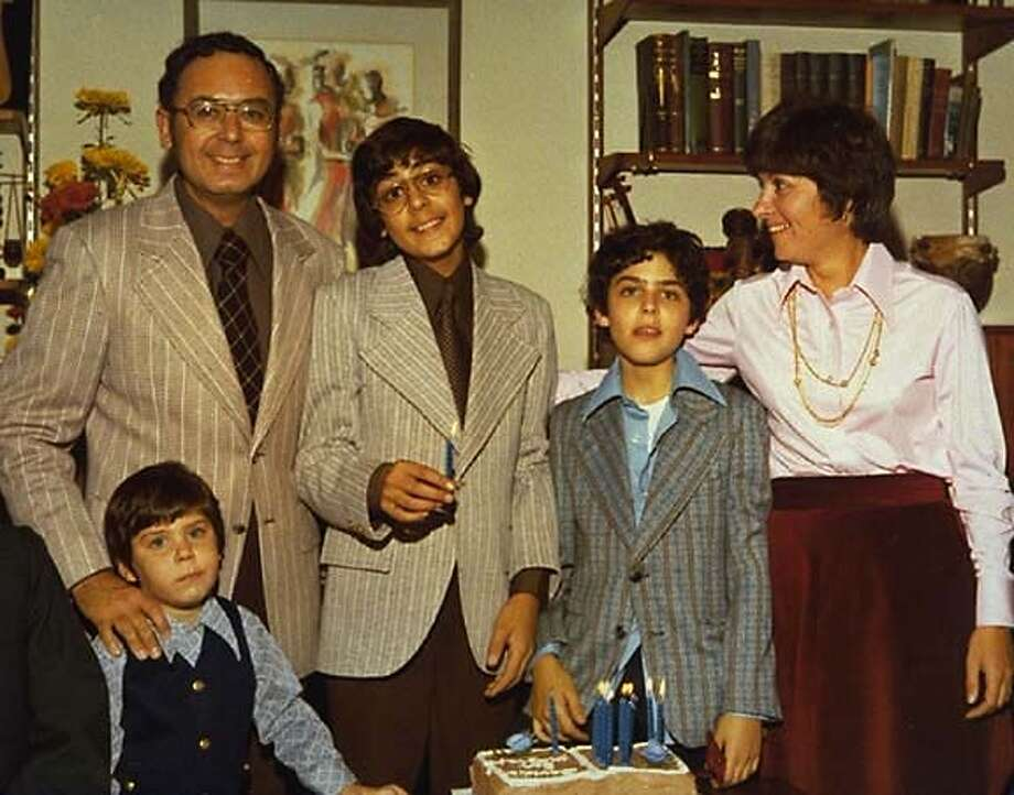 CAPTURE13-d For CAPTURE13, datebook ; Arnold Friedman (father), Elaine Friedman (mother) and their three boys, Jesse (left) David (middle), and Seth (right) at David Friedman's bar mitzvah, from Capturing the Friedmans, a Magnolia Pictures release. (c) Magnolia Pictures ; Inserted into mediagrid on 5/12/03 in . / Magnolia Pictures CAT MANDATORY CREDIT FOR PHOTOG AND SF CHRONICLE/ -MAGS OUT