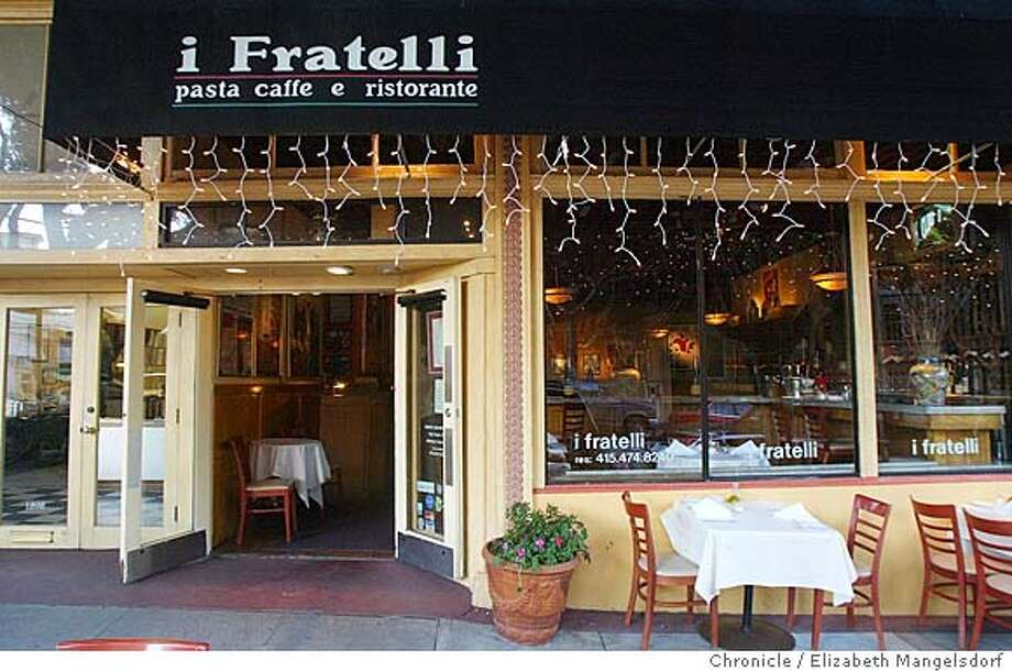 Event on 3/11/04 in San Francisco.  I Fratelli, 1896 Hyde St., a long-running neighborhood restaurant. (there were no customers in the restaurant for the hour I was there.)  Liz Mangelsdorf / The Chronicle Photo: Liz Mangelsdorf