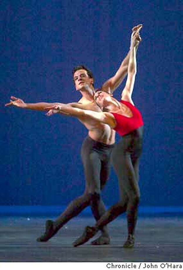 "Yerba Buena Center for the Arts, Mission & 3rd Sts. Saan francisco  Oakland Ballet dress rehersal  ""Huapango"" Alexis Drabek and Jekns Pelaez  photo/John O'hara Photo: John O'Hara"