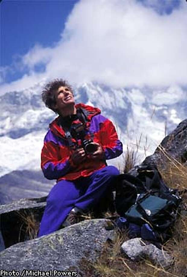 Galen Rowell. leader of Photo Safari/trekin the Cordillera Blanca Range, Peru. Photo: Michael Powers
