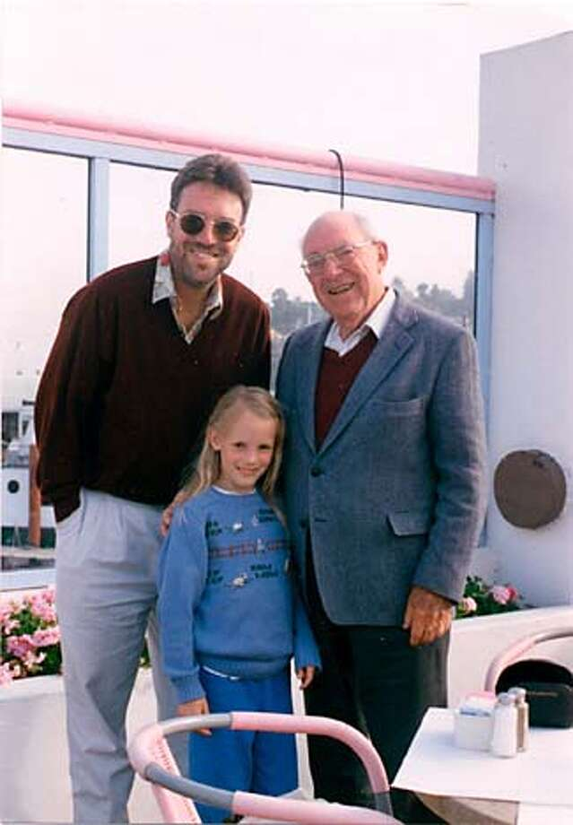 Family ties: The author, left, with his daughter, Phoebe, and father, Willis Winn, in Tiburon in 1999. Photo courtesy of Steven Winn
