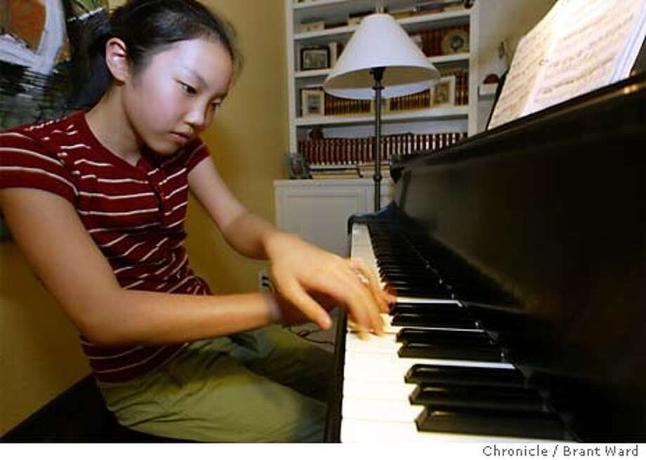 piano002_bw.jpg 12 year old piano prodigy Chloe Pang of Orinda is releasing her first album in a few months. She'll be the youngest person to record Bach's Goldberg Variations. BRANT WARD / The Chronicle Photo: BRANT WARD