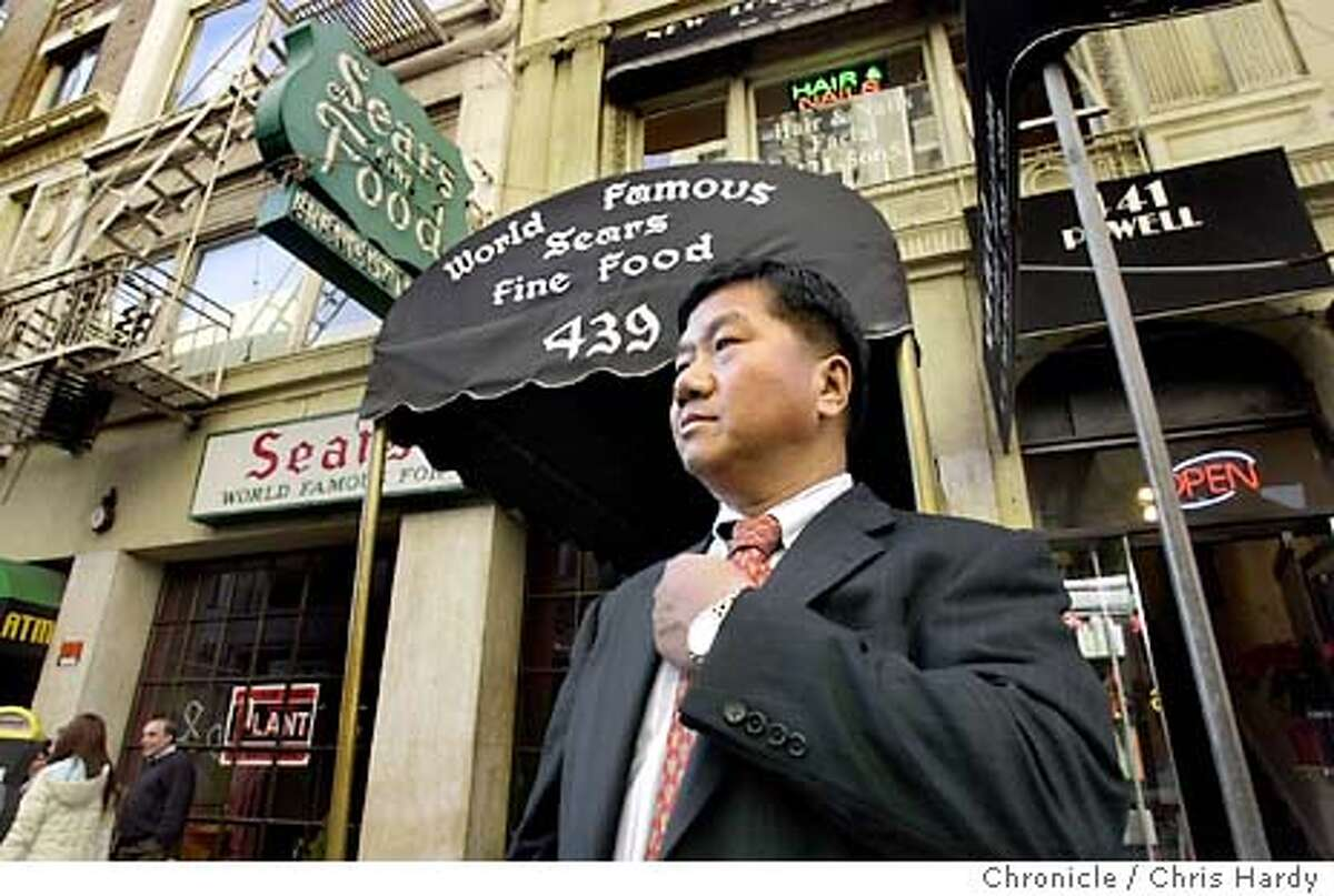 Man J. Kim, who owns Lori's Diner as well as a Chinese and sushi restaurant in San Francisco, plans to take over the Sears Fine Food name and reopen the Union Square institution that has been serving Swedish pancakes on Powell Street since the 1930s. CHRIS HARDY / The Chronicle