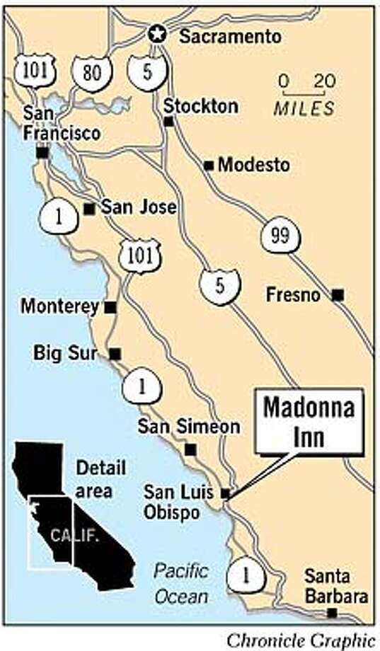 Madonna Inn. Chronicle Graphic