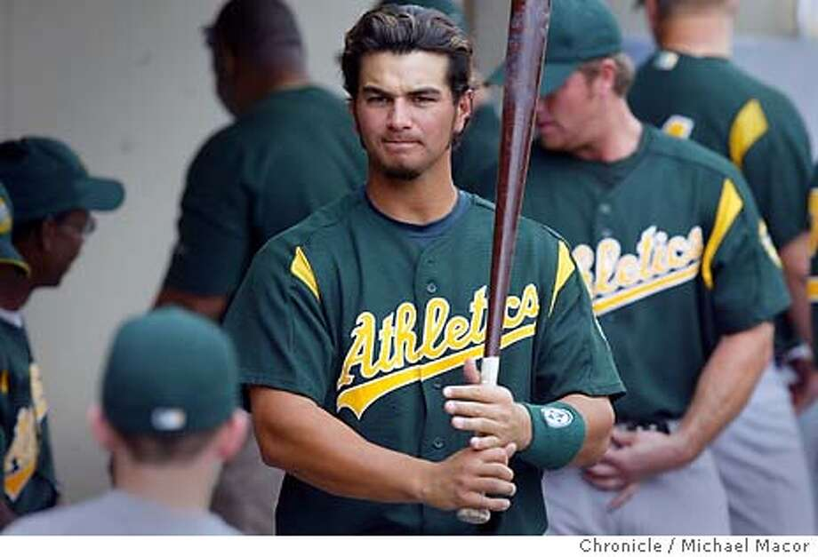 A's third baseman 3- Eric Chavez gets ready to bat. The Oakland Athletics take on the Milwaukee Brewers. Spring training continues in the desert south west. event on 3/11/04 in Phoenix Michael Macor / San Francisco Chronicle Photo: Michael Macor