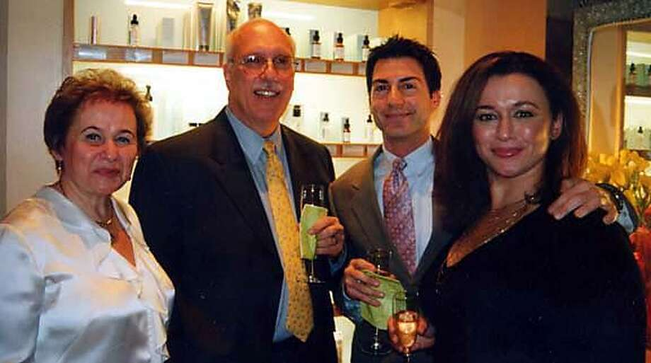 L-R:� Galena Rovner (spa owner), Dr. Richard Glogau, Randy Schreck (spa manager), and Angelina Umansky (spa owner) at a party celebrating�an article�in Allure magazine naming him�one of the nation's most influential dermatologists.  � on 3/4/04 in San Francisco. / Special To The Chronicle