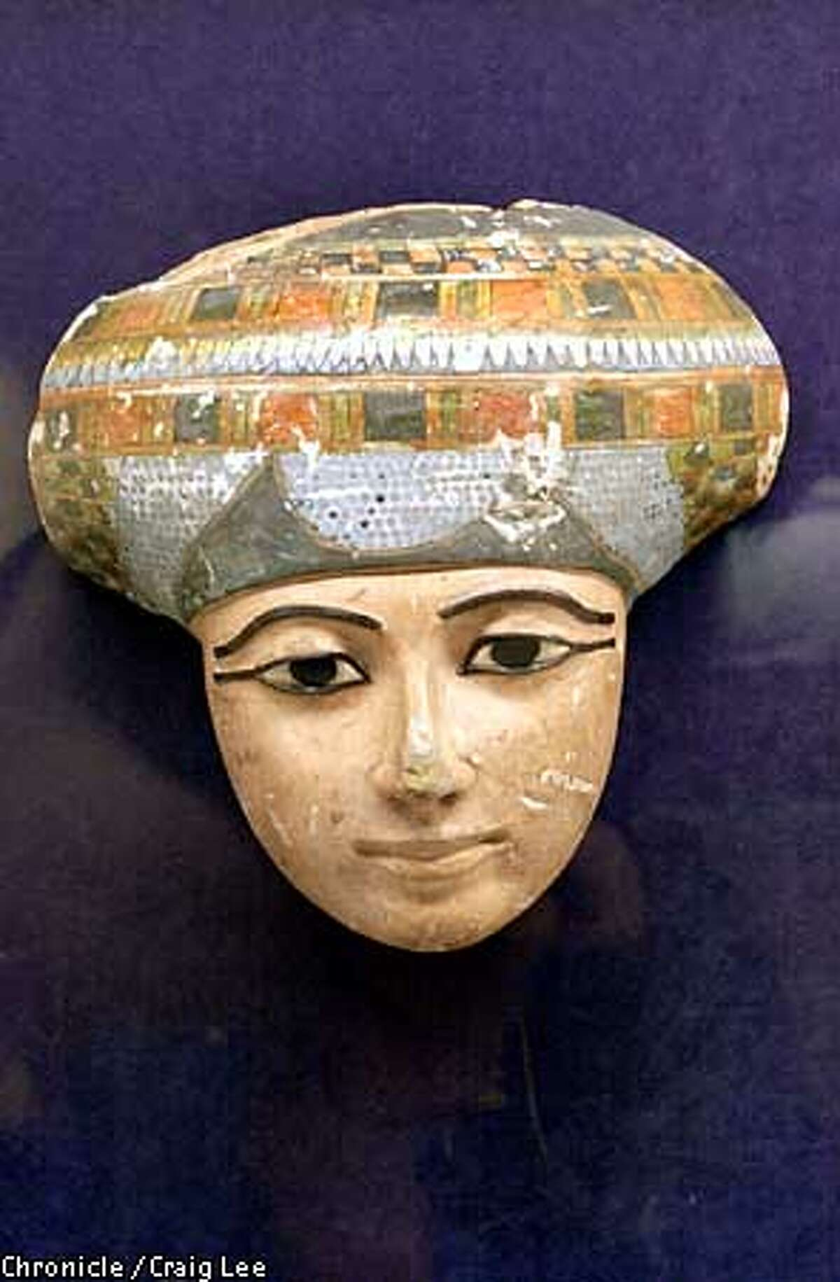 The Rosicrucian Egyptian Museum in San Jose, California. Photo of a wood funerary mask portraying the features of the deceased. Photo by Craig Lee/San Francisco Chronicle