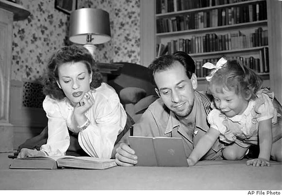 Actress Uta Hagen, shown with first husband Jose Ferrer (who played Iago to her Desdemona) and their daughter Leticia in 1943. Associated Press File Photo
