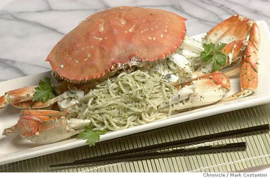 Photo taken on 1/9/04 in San Francisco.  Crab and noodles. More info TK. No assignement in system yet.  CHRONICLE PHOTO BY MARK COSTANTINI Photo: MARK COSTANTINI
