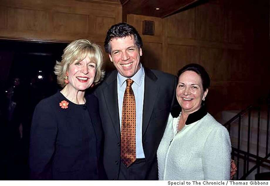SOCIAL21.jpg  Jan Buckley, Thomas Hampson and Mrs Mara Fritz at a party for the San Francisco conseratory of Music.By Thomas Gibbons/ Special to The Chronicle