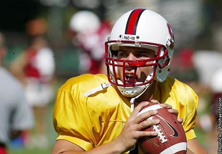 "Stanford""s Quarterback 12-Trent Edwards. Stanford Football practice session. by Michael Macor/The Chronicle Photo: MICHAEL MACOR"