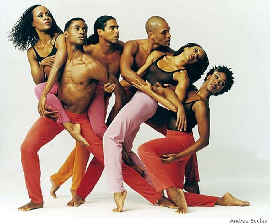 Company members perform in Judith Jamison's Hymn in Program C of Alvin Ailey American Dance Theater�s annual Cal Performances engagement at Zellerbach Hall, March 9 - March 14, 2004. Photo Credit : Andrew Eccles Photo: Andrew Eccles