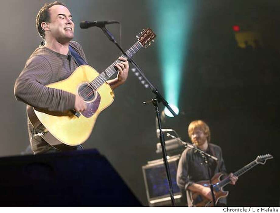 Dave Matthews (left) plays with Trey Anastasio of Phish at the Network Association Arena . LIZ HAFALIA/The Chronicle Shot 1/16/04 in Oakland Photo: LIZ HAFALIA