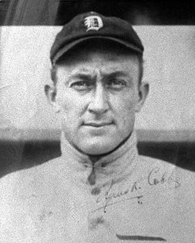 COBB 3/04JAN94/DD/MACOR Daughter of Ty Cobb Beverly McLaren is upset about the new Ty Cobb Movie. Picture of Ty Cobb during his playing days. Chronicle Photo: Michael Macor