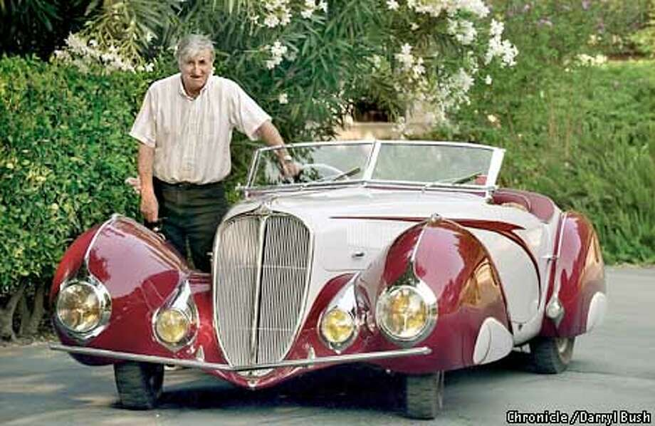 CARS17B-C-15AUG02-MT-DB Jacques Harguindeguy stands next to his restored French 1937 Delahaye. one of only 5 in the world, at his home in Walnut Creek. CHRONICLE PHOTO BY DARRYL BUSH Photo: Darryl Bush