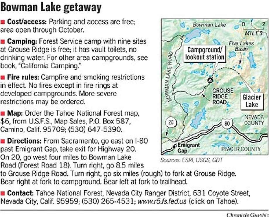 Bowman Lake Getaway. Chronicle Graphic