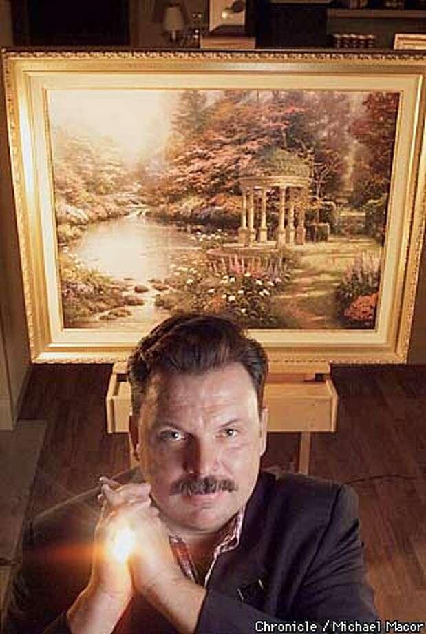 """Thomas Kinkade known as """"The Painter of Light"""" with one of his most recent works """"The Garden of Prayer"""". by Michael Macor/The Chronicle Photo: MICHAEL MACOR"""