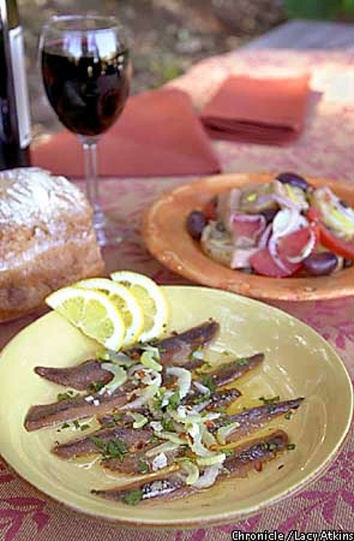 Marinated anchovies make refreshing additions to any outdoor menu. Chronicle photo by Lacy Atkins