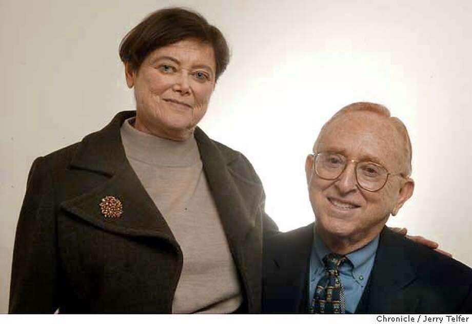 Marion (cq) and Herb Sandler, husband and wife co-CEOs of Oakland CA's Golden West Financial.  Event on 1/7/04 in San Francisco. JERRY TELFER / The Chronicle MANDATORY CREDIT FOR PHOTOG AND SF CHRONICLE/ -MAGS OUT Photo: JERRY TELFER