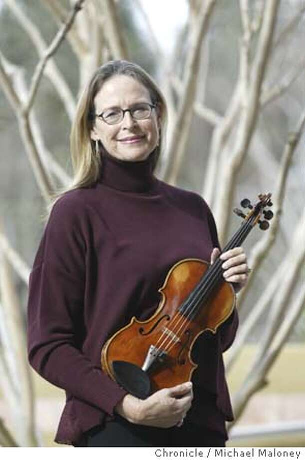 Silicon Valley VC Kathryn Gould is an amateur musician who has commissioned a bunch of new orchestra pieces for local orchestra companies. Her personal musical instrument is a fiddle.  Event on 1/8/04 in Menlo Park.  Michael Maloney / The Chronicle Photo: Michael Maloney
