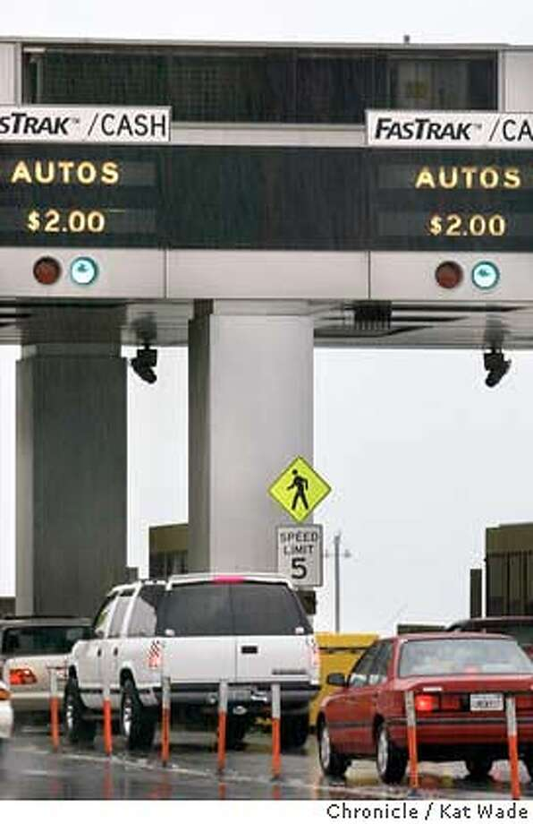 CWTOLLBOOTH_0131_KW.jpg  Every clock over every toll booth on the Bay Bridge is out of order on 11/30/03 in San Francisco. Kat Wade / The Chronicle ProductNameChronicle ProductNameChronicle MANDATORY CREDIT FOR PHOTOG AND SF CHRONICLE/ -MAGS OUT Photo: Kat Wade