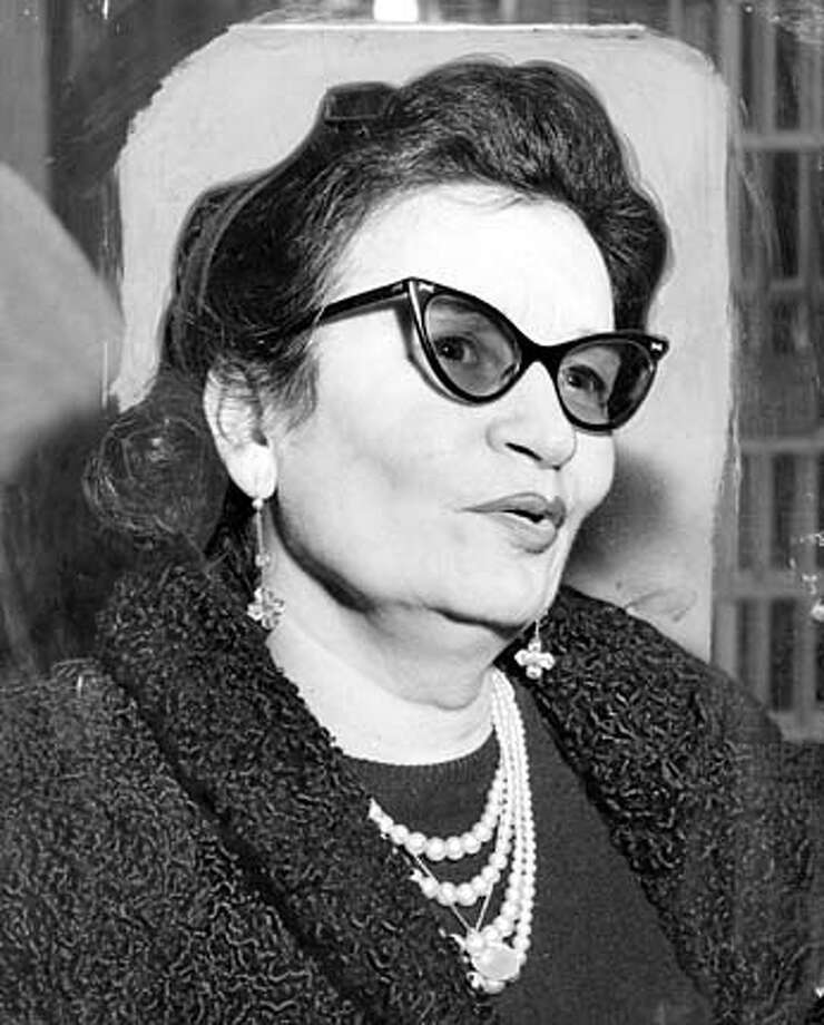Mabel Malotte, accused S.F. madam, arrested in March 1954.