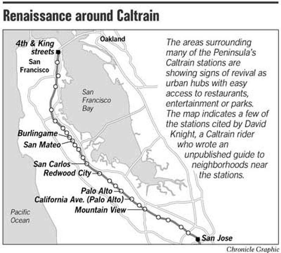 Renaissance Around Caltrain. Chronicle Graphic