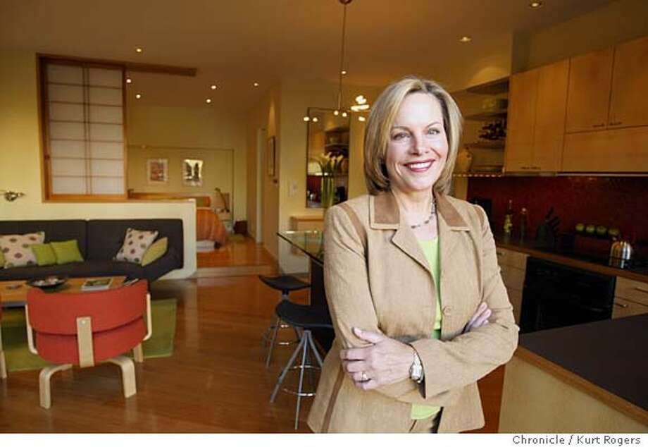 """Story is about a San Francisco real estate stager Ann Maurice who has become a celebrity on British television as the """"House Doctor,'' staging homes for sale. She lives in a house in the Marina where she has just finished remodeling the lower unit. Event on 2/11/04 in San Francisco. Kurt Rogers/The Chronicle Photo: Kurt Rogers"""