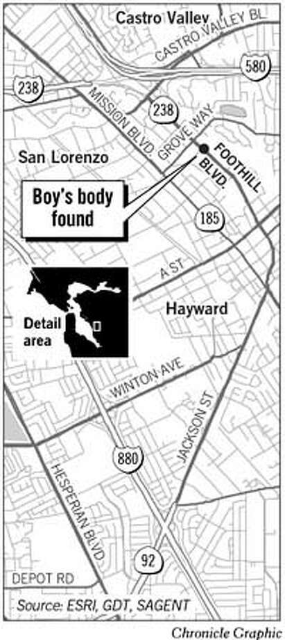 Boy's Body Found. Chronicle Graphic