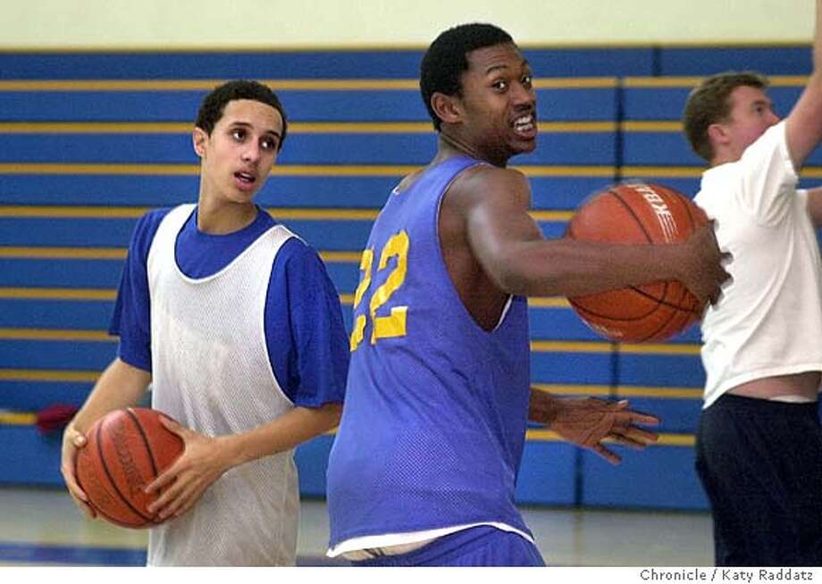 Serra High School in San Mateo has a player named Chaz Thomas, a transfer from Oceana. He's shown on LEFT, with #22 Hubert Miner on RIGHT during practice. Katy Raddatz / The Chronicle Photo: Katy Raddatz