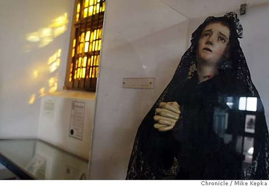 Our Lady of Sorrow is on special exibit at Mission Delores.  Thousands of tourists from all over the world come to visit Mission Delores in San Francisco.  Mike Kepka / The Chronicle Photo: Mike Kepka