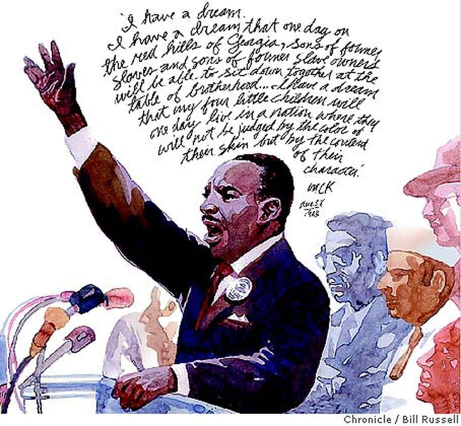 "Martin Luther King, ""I Have a Dream.""  graphic illustration"