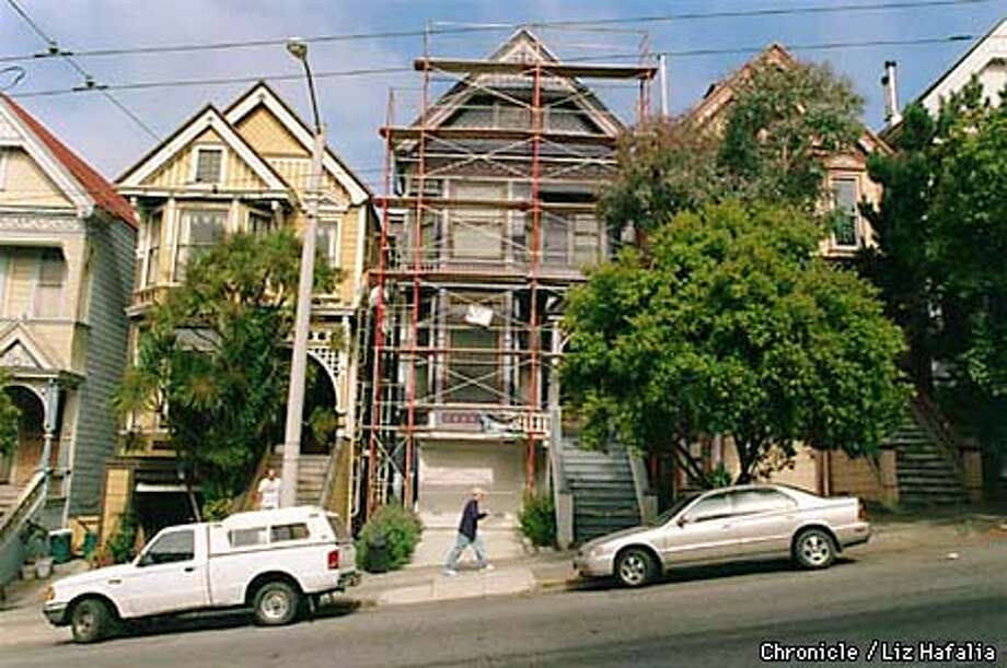 Grateful Dead lived at this address--710 Ashbury (house with scaffolding)-- during 'Summer of Love'. The house is among the 'Summer of Love' items up for auction at Butterfield's. Photo by LIz Hafalia Photo: Liz Hafalia