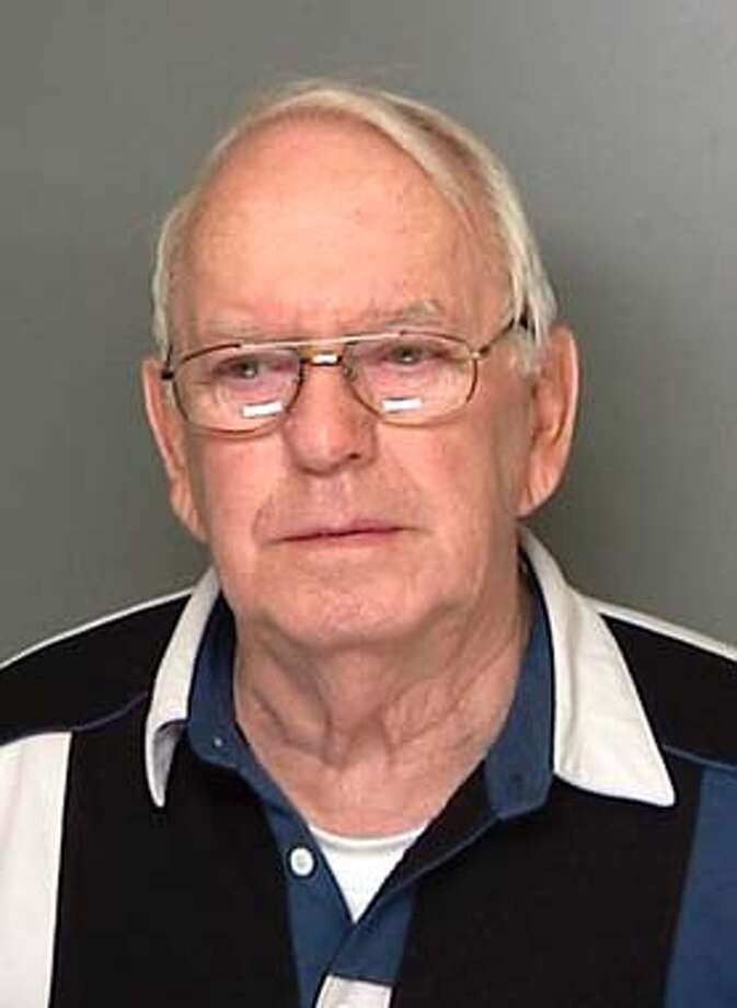 Albert Eid, 76, of Patchogue, N.Y., appears in this booking photo released by the Suffolk County Police Department in New York, Tuesday, March 9, 2004. Eid was was charged with manslaughter for allegedly shooting and killing William James of Medford, N.Y., by mistake during a Masonic initiation ceremony. (AP Photo/Suffolk County Police Department, HO) Albert Eid, 76, has been charged with manslaughter in the shooting and released on $2,500 bail.