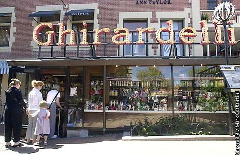 EXTERIOR OF THE GHIRARDELLI CHOCOLATE STORE AT FISHERMAN'S WHARF IN SSAN FRANCISCO. Photo: Mark Costantini/SF Chronicle Photo: MARK COSTANTINI