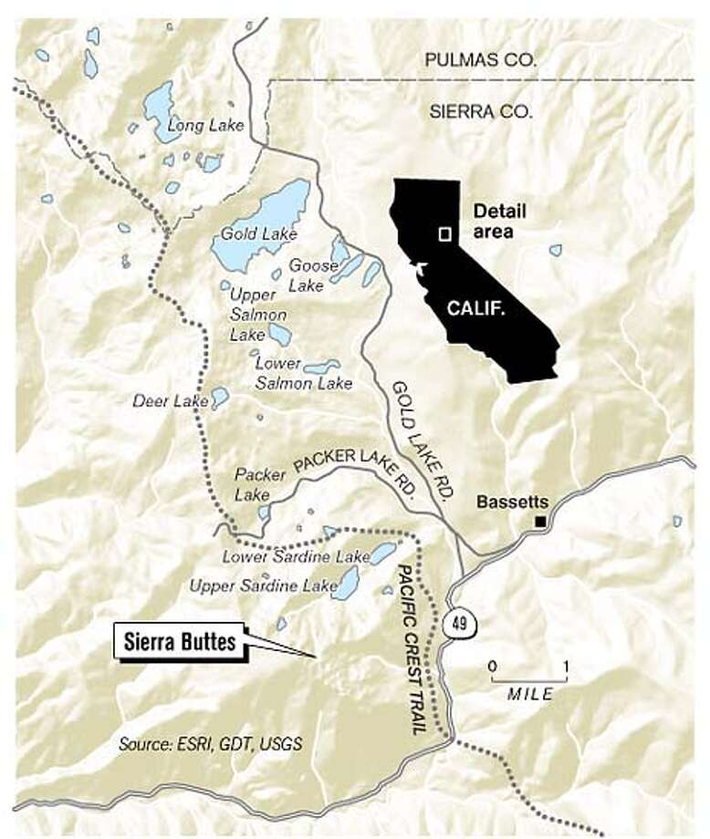 Sierra Buttes. Chronicle Graphic