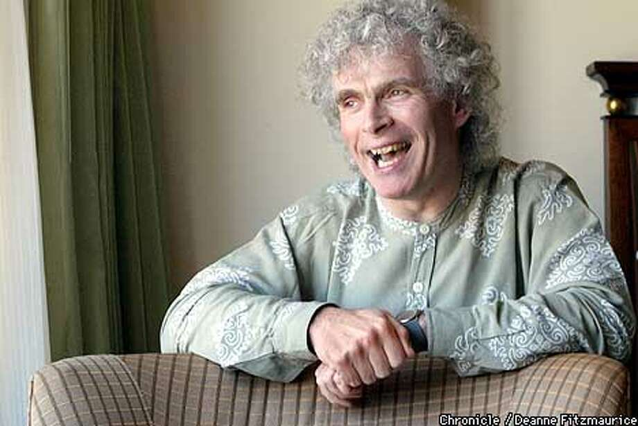 Sir Simon Rattle, big-time English conductor visits San Francisco. CHRONICLE PHOTO BY DEANNE FITZMAURICE Photo: DEANNE FITZMAURICE