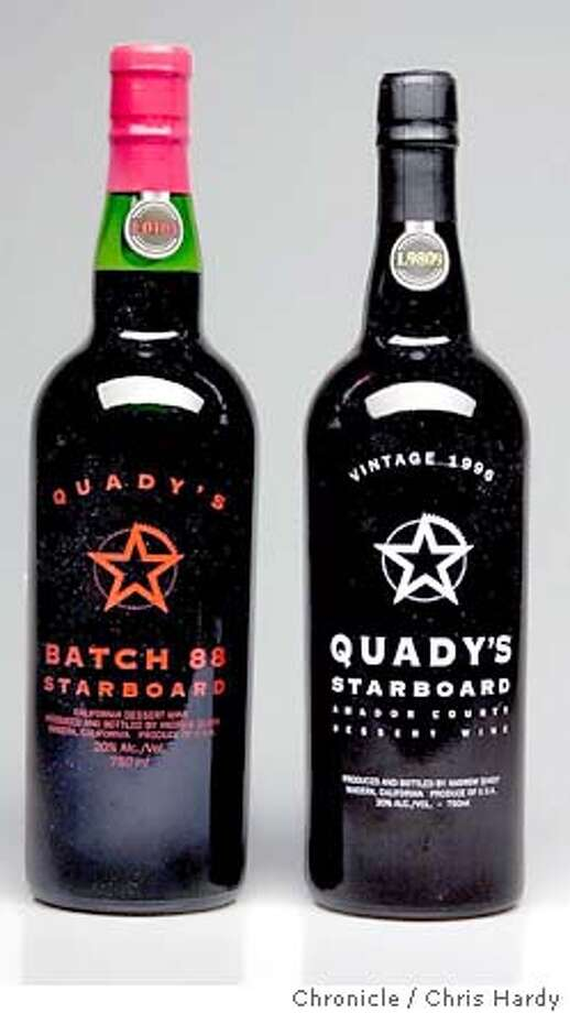 uncorked15001_ch.JPG two bottles of Quady's Starboard port wine - CHRIS HARDY / The Chronicle Photo: CHRIS HARDY