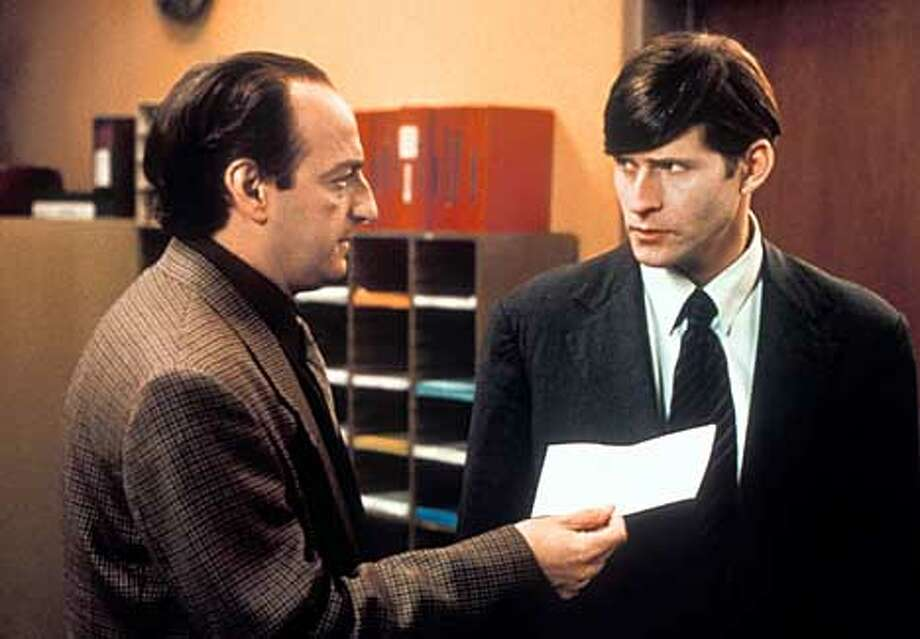 "THIS IS A HANDOUT IMAGE. PLEASE VERIFY RIGHTS. BARTELBY07: David Paymer (left) and Crispin Glover in ""Bartelby."" Photo: HO"