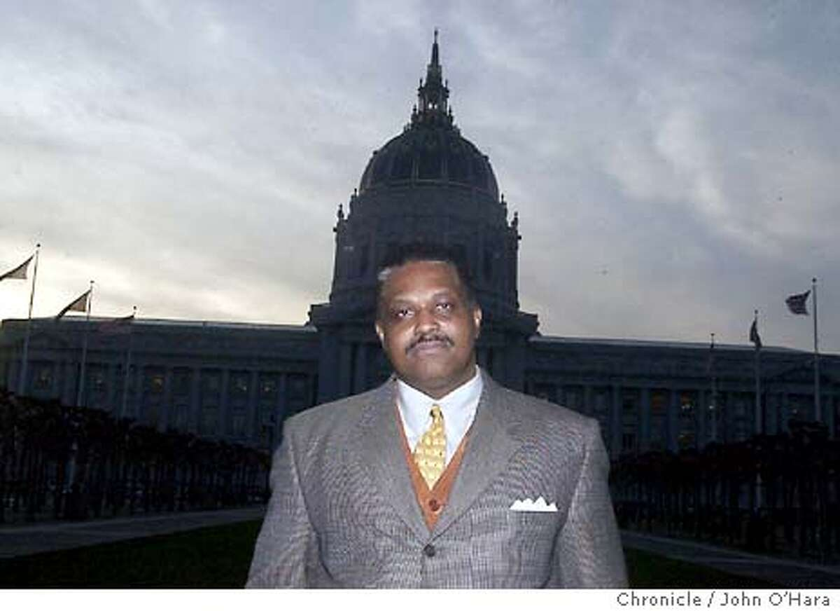 City Hall, San francisco,CA Kevin Wiliams, a former City affirmative action officer, fired for whistle blowing photo/John O'hara