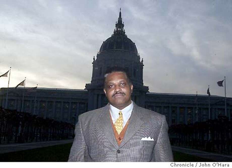 City Hall, San francisco,CA  Kevin Wiliams, a former City affirmative action officer, fired for whistle blowing  photo/John O'hara Photo: JOHN O'HARA