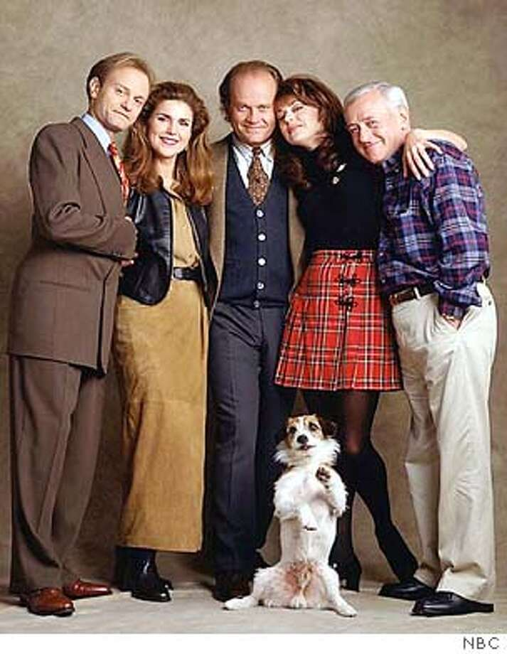 """** FILE ** Cast members from the television comedy series """"Frasier"""" are shown in this undated photo. After some brief talk of keeping the show going for a 12th season next fall, NBC said Monday, Jan. 12, 2004 that its five-time Emmy-winning comedy, """"Frasier,"""" will call it quits in May.(AP Photo/NBC)"""