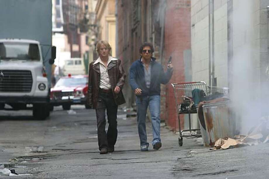 "for preview04; OWEN WILSON and BEN STILLER in Warner Bros. Pictures� ""Starsky & Hutch"" PHOTOGRAPHS TO BE USED SOLELY FOR ADVERTISING, PROMOTION, PUBLICITY OR REVIEWS OF THIS SPECIFIC MOTION PICTURE AND TO REMAIN THE PROPERTY OF THE STUDIO. NOT FOR SALE OR REDISTRIBUTION"