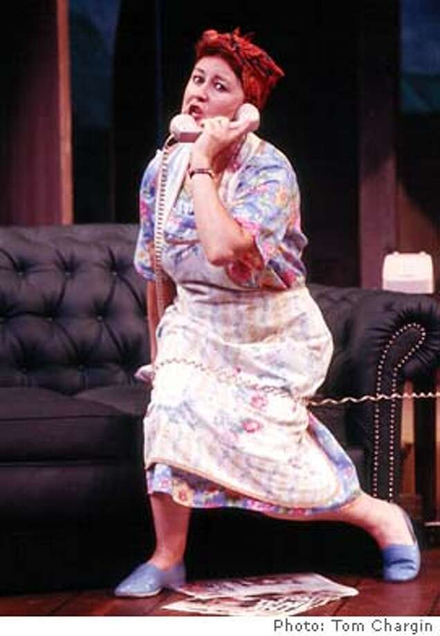 """For NOISES15, datebook ; Jane Carr as �Dotty Otley� in """"NOISES OFF"""" at the San Jose Repertory Theatre ; Photo Credit:� Tom Chargin ; on 9/12/03 in . Tom Chargin / HO Photo: Tom Chargin"""