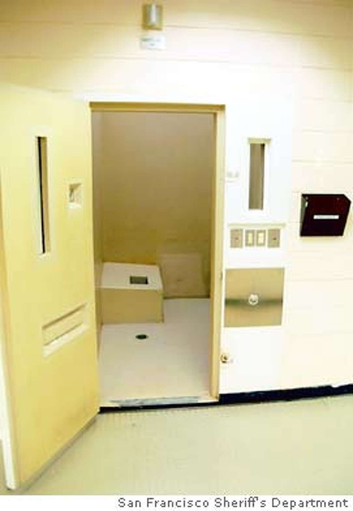for JAIL; safety cell in San Francisco Courtesy San Francisco Sheriff's Department, / HO