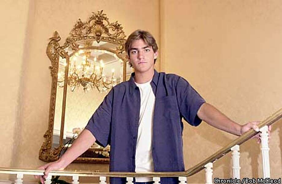 MCDONELLO7b-C-05AUG02-DD-BM  Nick McDonell, 18 year old author of his first novel. photographed in the Ritz Carlton.  Chronicle photo by Bob McLeod Photo: BOB MCLEOD