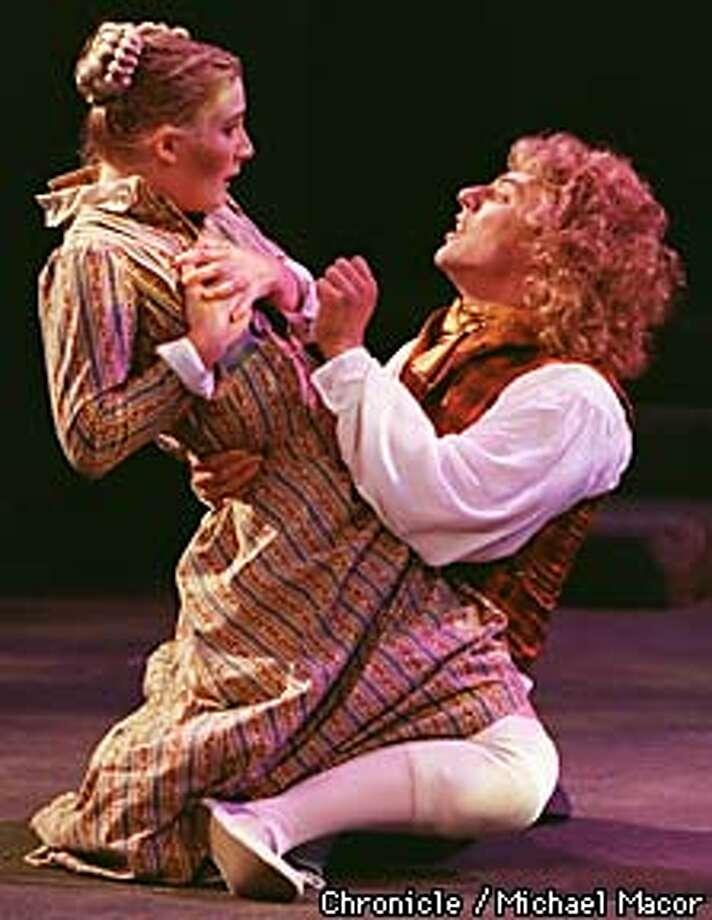 """A Midsummer Night's Dream"" Bruns Amphitheater, Orinda. Lisa A. Porter plays HELENA and Michael Polak plays LYSANDER Chronicle Photo: Michael Macor Photo: MICHAEL MACOR"