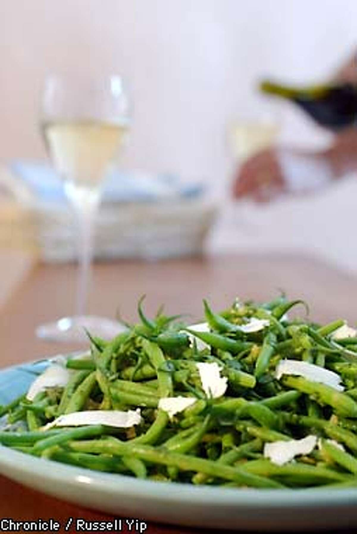 Haricot vertes with vinagarette. (Green bean salad which pairs with sauvignon blanc. PHOTO BY RUSSELL YIP/THE CHRONICLE; STYLING BY ETHEL BRENNAN